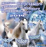 Новый год 2014, год Лошади
